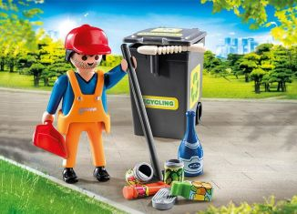 Playmobil - 70249 - Sweeper with accessories