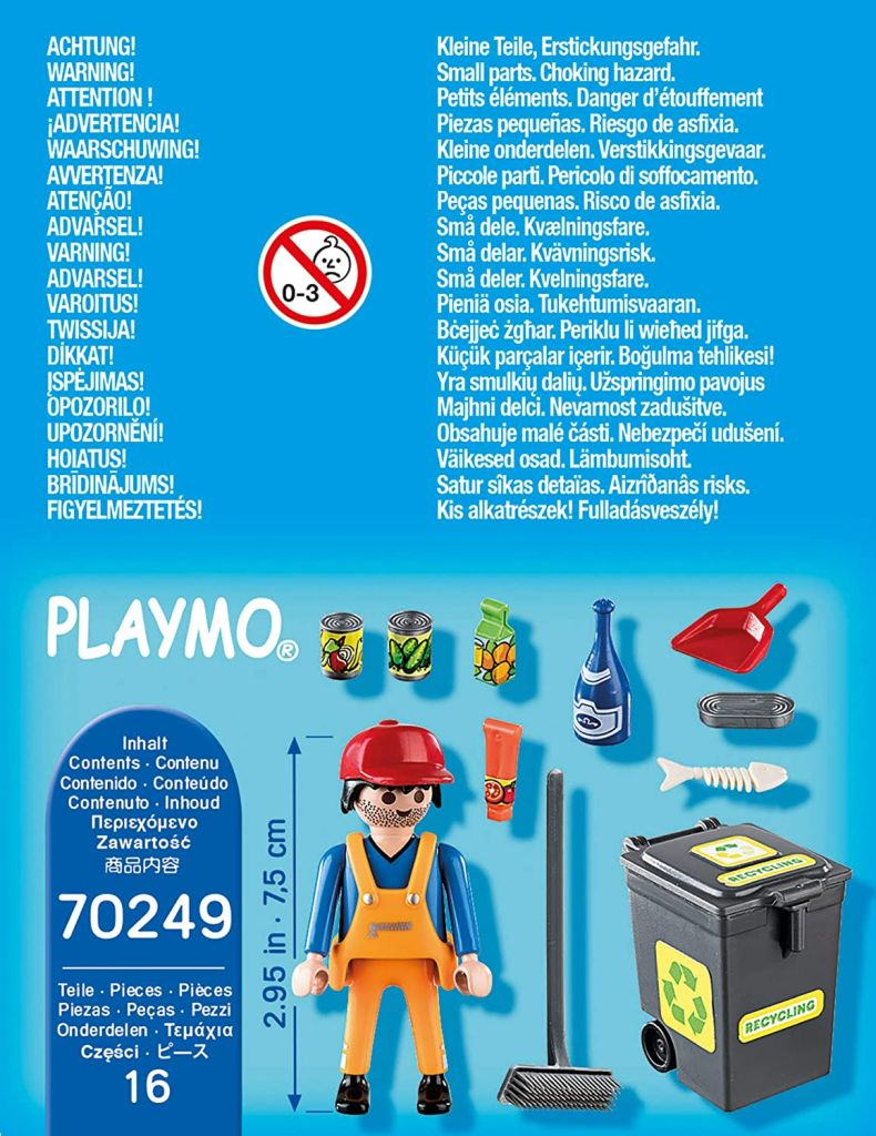 Playmobil 70249 - Sweeper with accessories - Back