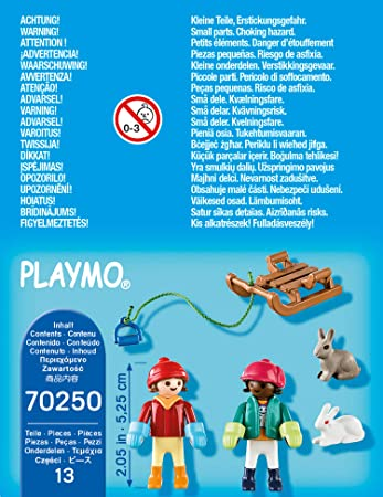 Playmobil 70250 - Children with sleigh - Back