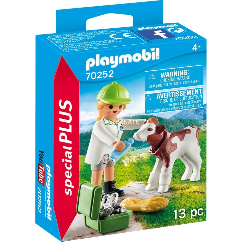 Playmobil 70252 - Veterinary with calf - Box