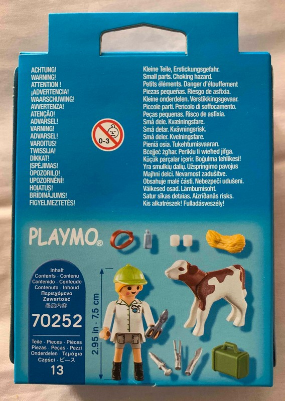 Playmobil 70252 - Veterinary with calf - Back