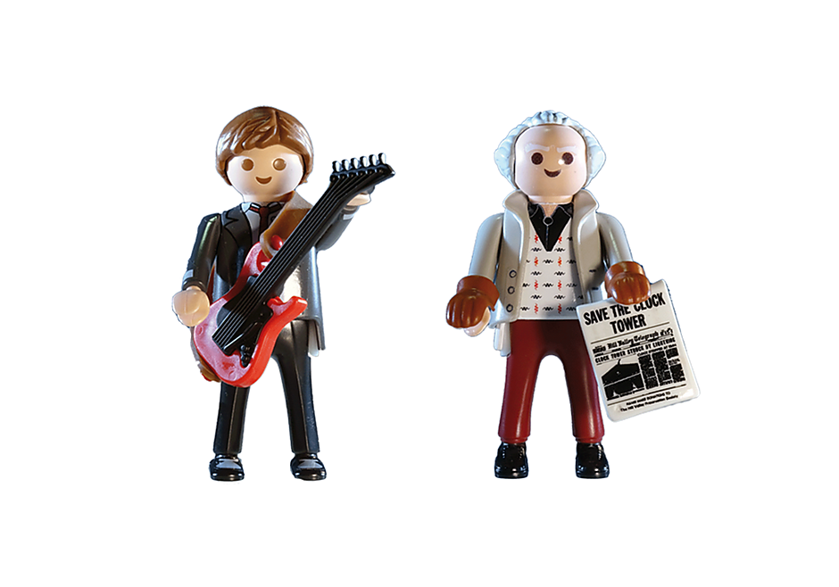 Playmobil 70459 - Back to the Future Marty Mcfly and Dr. Emmett Brown - Back