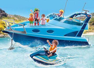 Playmobil - 70630 - PLAYMOBIL-FunPark Yacht with Jet Ski