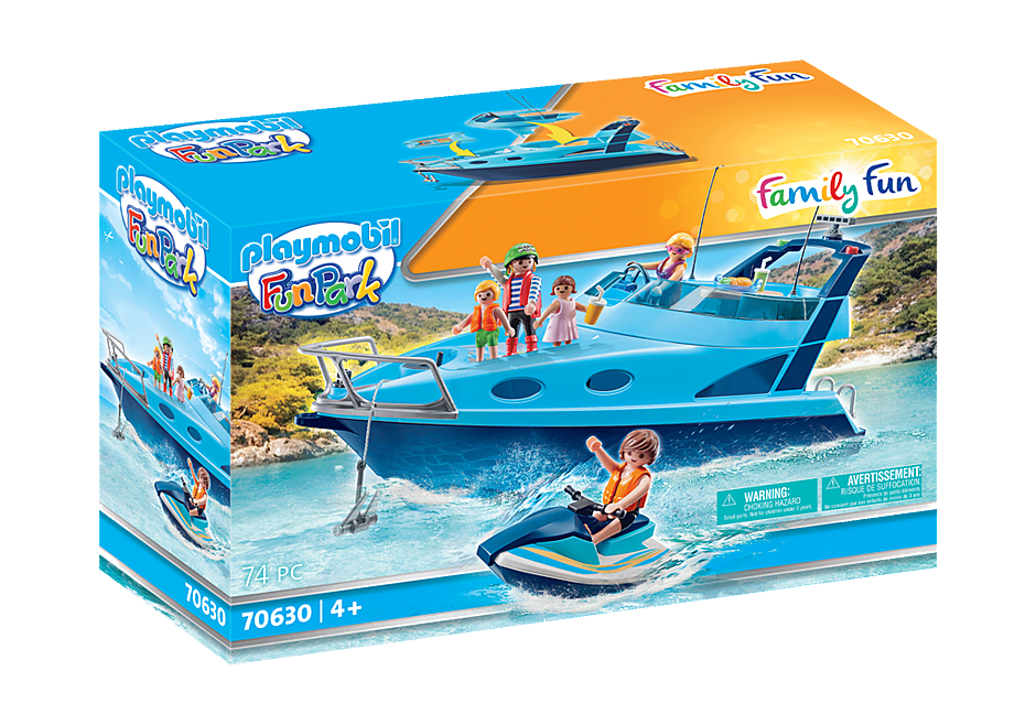 Playmobil 70630 - PLAYMOBIL-FunPark Yacht with Jet Ski - Box