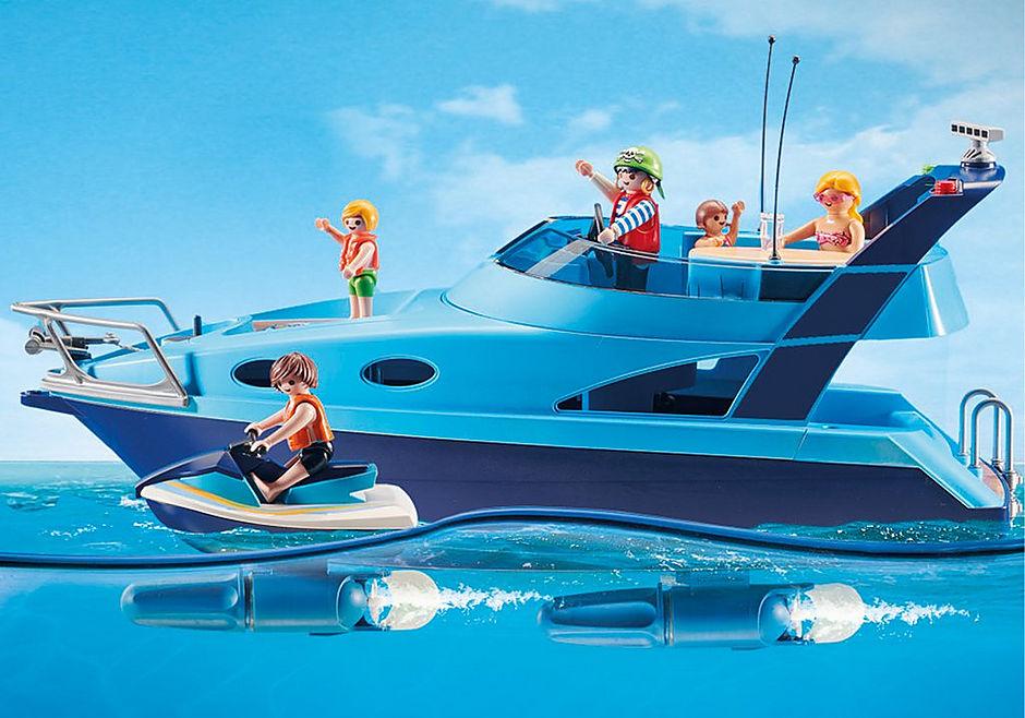 Playmobil 70630 - PLAYMOBIL-FunPark Yacht with Jet Ski - Back