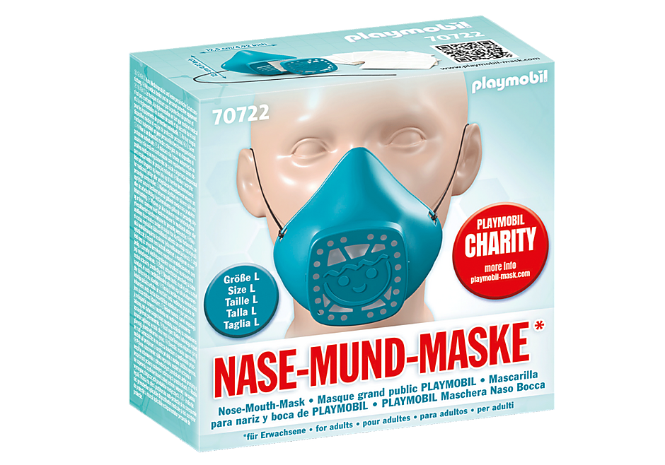 Playmobil 70722 - Nose-Mouth-Mask for size L turquoise - Back