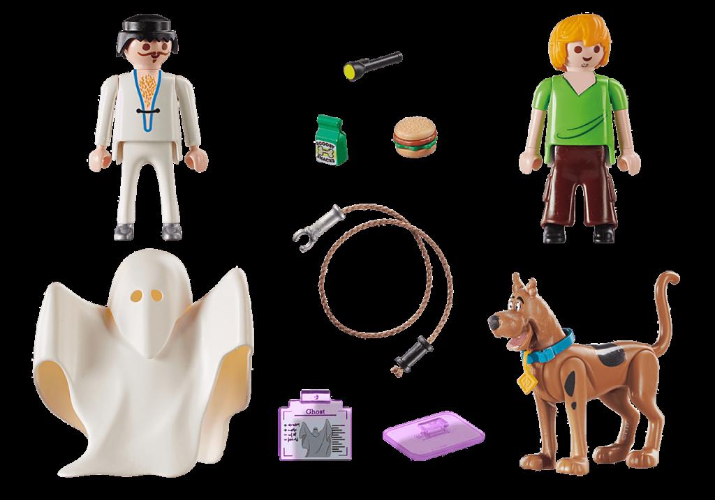 Playmobil 70287 - SCOOBY-DOO! Scooby & Shaggy con fantasma - Volver