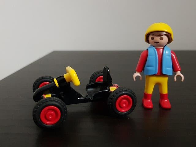 Playmobil 4510-usa - Boy with kart - Back