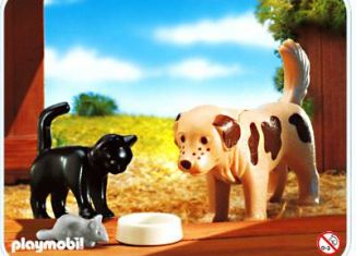Playmobil - 4563-usa - Dog, cat and mouse