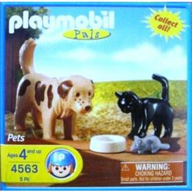 Playmobil 4563-usa - Dog, cat and mouse - Box