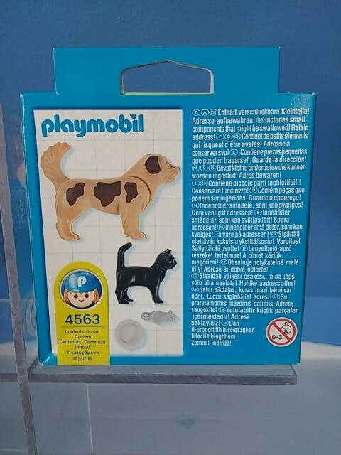 Playmobil 4563-usa - Dog, cat and mouse - Back