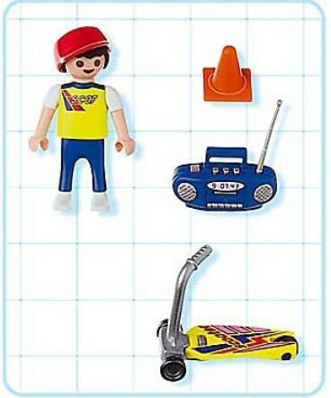 Playmobil 4636-usa - Skateboard kid - Back