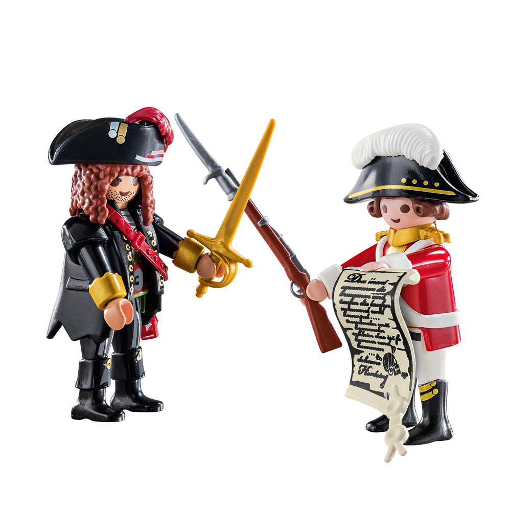 Playmobil 70273-ger - Duo Pack Pirate and Soldier - Back