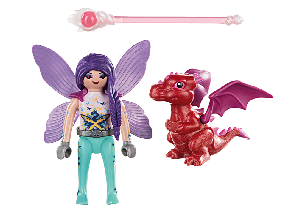 Playmobil 70299 - Fairy with Dragon baby - Back