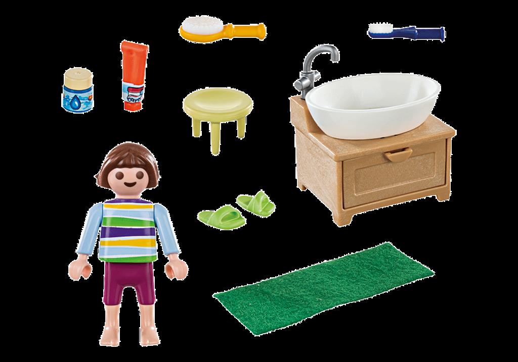 Playmobil 70301 - Girl toothbrushing - Back