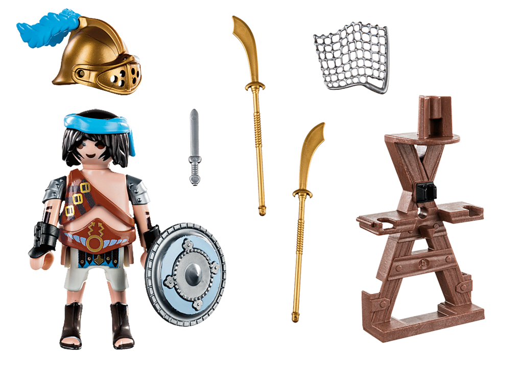 Playmobil 70302 - Gladiator with weapon stand - Back