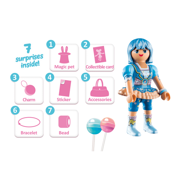 Playmobil 70386 -  CLARE CANDY WORLD - Back