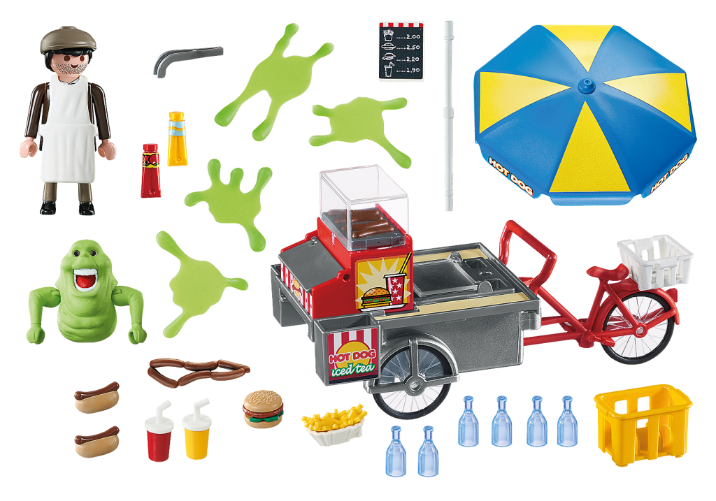 Playmobil 9222 - Slimer with Hot Dog Stand - Back