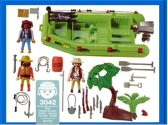 Playmobil 3042 - Jungle River Raft - Back