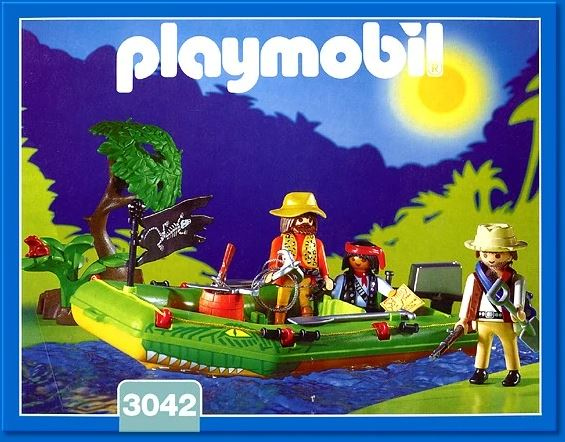 Playmobil 3042 - Jungle River Raft - Box