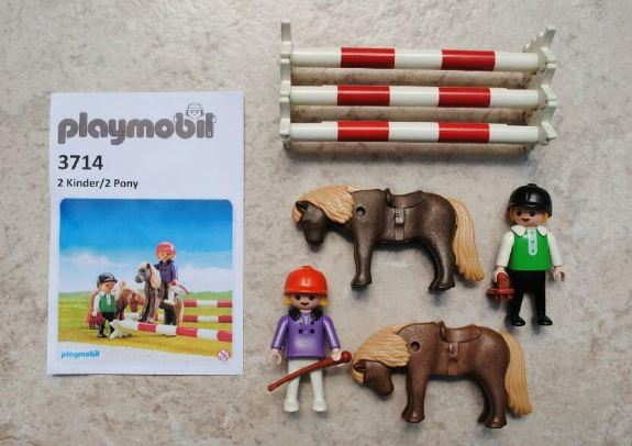 Playmobil 3714 - Children And Ponies - Back
