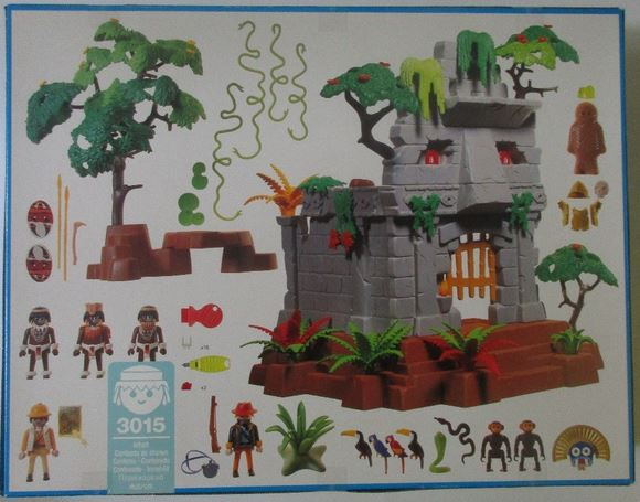 Playmobil 3015 - Jungle Ruins - Back