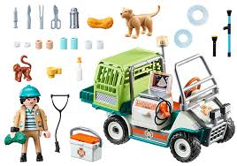 Playmobil 70346 - Veterinarian and his vehicle - Back