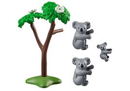 Playmobil 70352 - Couple of koalas with baby - Back