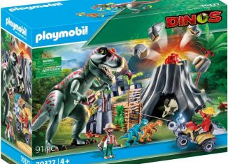 Playmobil - 70327-gre - Volcano Erruption