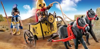 Playmobil - 70469 - Achilles in a chariot with Patroclus