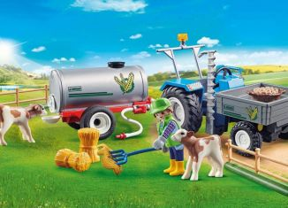 Playmobil - 70367 - Charging Tractor with Water Tank