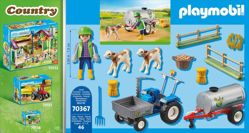 Playmobil 70367 - Charging Tractor with Water Tank - Back