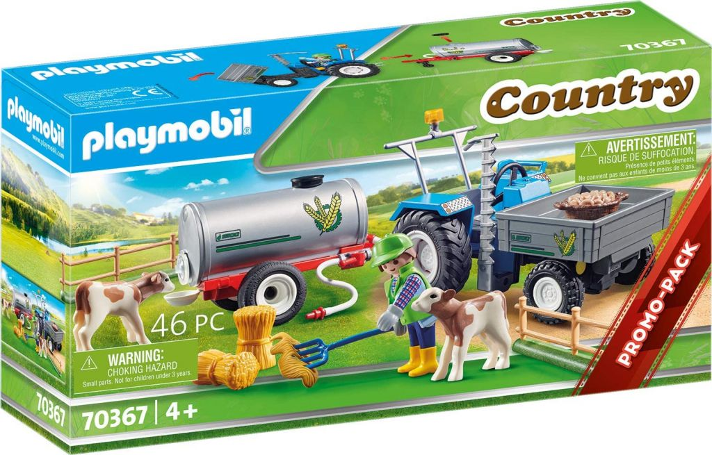 Playmobil 70367 - Charging Tractor with Water Tank - Box