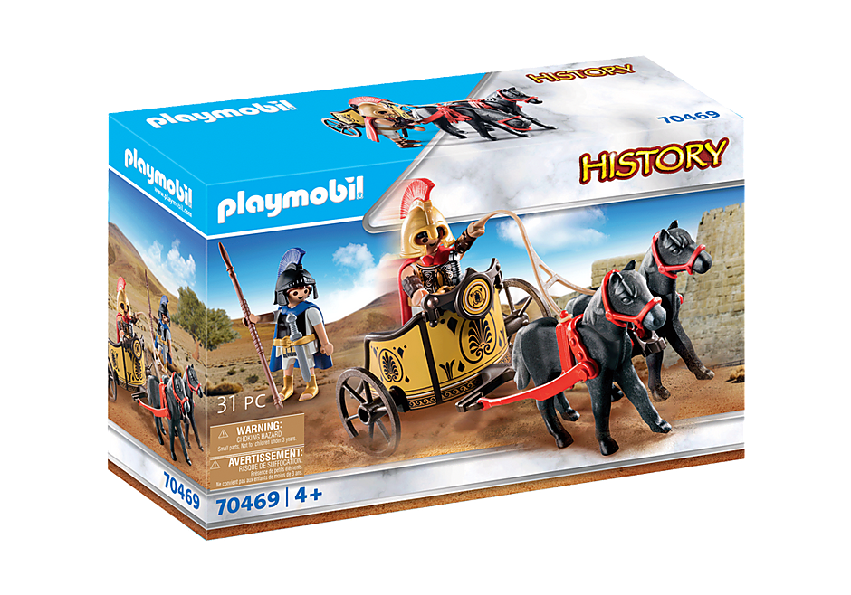 Playmobil 70469 - Achilles in a chariot with Patroclus - Box