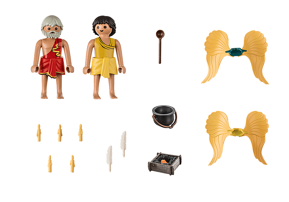 Playmobil 70471 - Daedalus and Icarus - Back