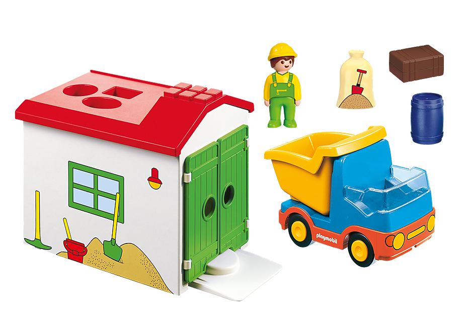 Playmobil 70184 -  Truck with Sorting Garage - Back