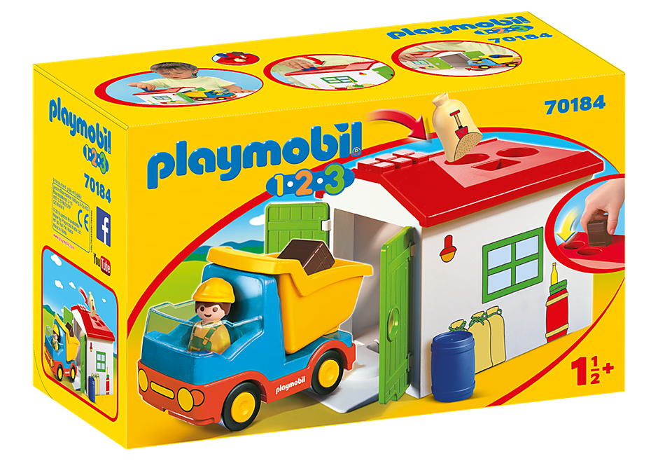 Playmobil 70184 -  Truck with Sorting Garage - Box