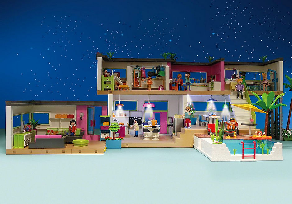 Playmobil 6354 - Light Set for the Modern Luxury Mansion - Back