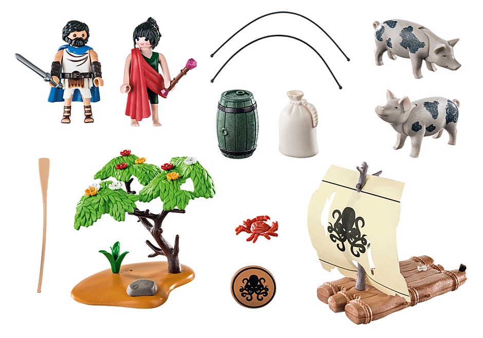 Playmobil 70468 - Odysseus and Kirke - Back
