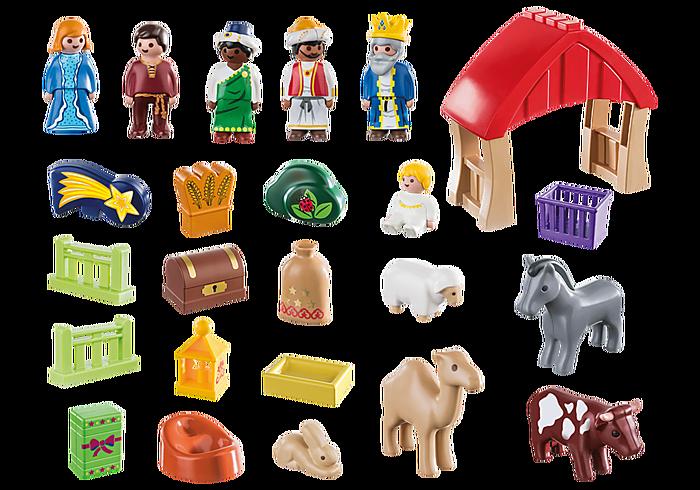 Playmobil 70259 - Christmas crib advent calendar - Back