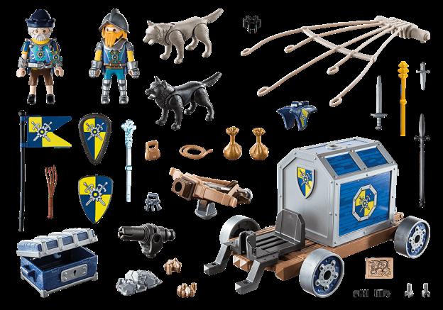 Playmobil 70392 - Novelmore Treasure Transport - Back
