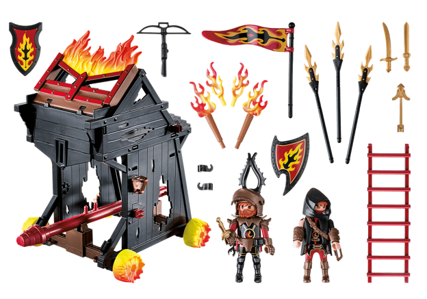 Playmobil 70393 - Burnham Raiders Fire Ram - Back