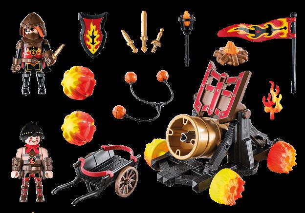 Playmobil 70394 - Burnham Raiders Lava Catapult - Back