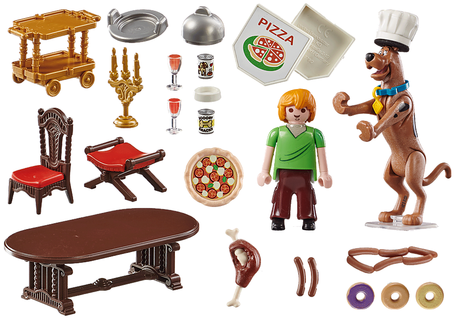 Playmobil 70363 - SCOOBY-DOO ! Feast with Samy - Back