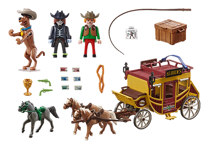 Playmobil 70364 - SCOOBY-DOO! Adventure in the Wild West - Back
