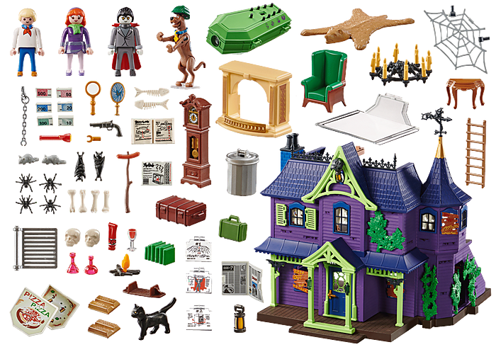 Playmobil 70361 - SCOOBY-DOO! Adventure in the Mystery Mansion - Back