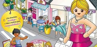 Playmobil - PLAYMOBIL PANNINI 03 ROSA - cute shopping girl