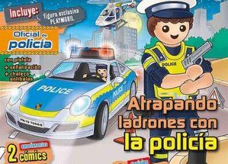 Playmobil - PANNINI 04 AZUL -  policeman