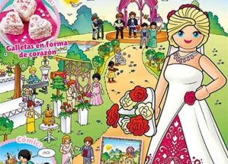 Playmobil - PLAYMOBIL PANNINI 04 ROSA - bride with bouquet of roses