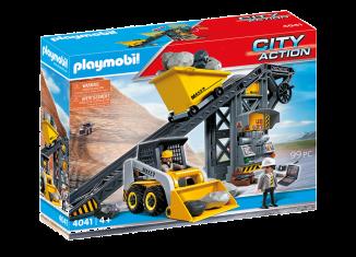 Playmobil - 4041v2 - Conveyor Belt with Mini Excavator